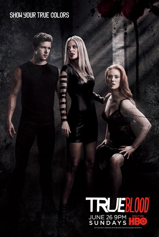true blood season 4 true colors promo poster ryan kwanten deborah ann wohl kristen bauer promo hot sexy vampire jason stackhouse muscle pam abs workout promo one sheet poster