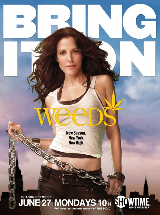 weeds season 7 rare promo poster hot sexy mary louise parker nancy botwin new season new high new york rare promo poster nancy botwin chains jail hot rare promo showtime premiere June 10 2011 bring it on