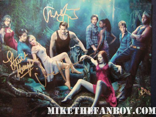 true blood season 3 cast signed autograph poster rare promo hot sexy rare anna paquin stephen moyer alexander skarsgard
