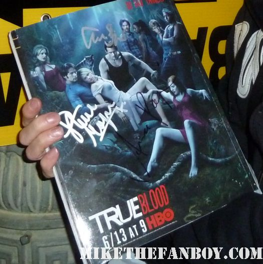 true blood on location season 4 with scottys season 3 promo poster signed by anna paquin alexander skarsgard stephen moyer rare promo hot sexy rare