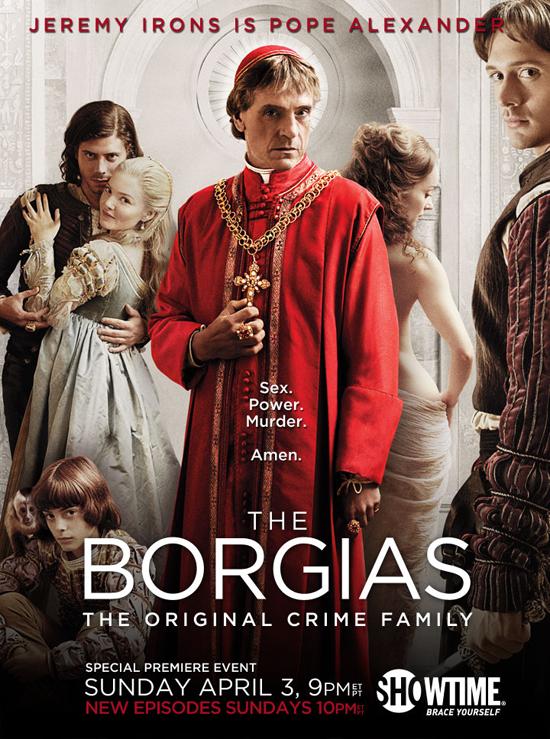 the borgias poster rare promo one sheet movie poster showtime series original rare jeremy irons press still