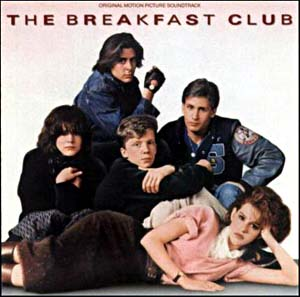 breakfast-club-soundtrack one sheet movie poster rare molly ringwald john hughes anthony michael hall emilio estevez ally sheedy judd nelson rare