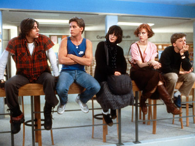 the breakfast club cast photo rare molly ringwald ally sheedy emilio estevez judd nelson rare promo hot anthony michael hall john hughes classic rare promo