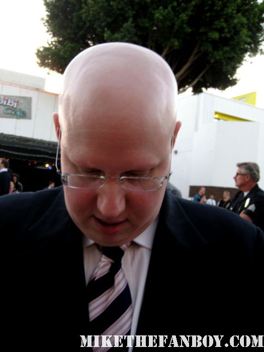 matt lucas from alice in wonderland and little britian signing autographs at the  Bridesmaids movie premiere signs autographs for fans at the bridesmaids movie premiere in westwood! sexy hot rare funny quotes promo press kit one sheet movie poster movie quotes rare