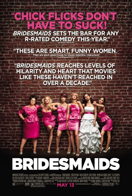 bridesmaids one sheet movie poster with movie quotes rare ellie kemper melissa mccarthy rare promo kristen wiig maya rudolph ellie kemper hot promo