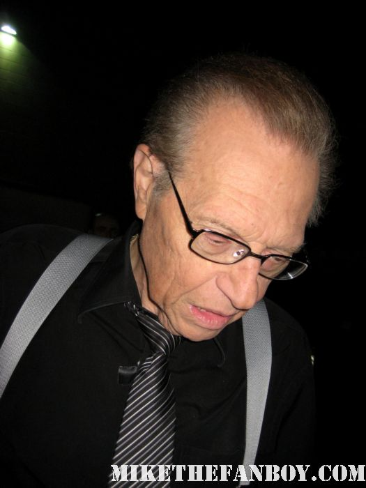 larry king from larry king live signs autographs for fans rare promo photo hot legend age old promo retired