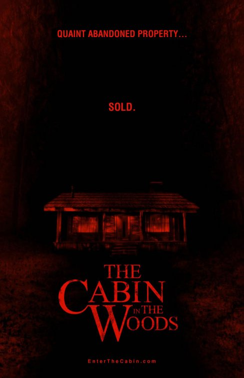 cabin in the woods one sheet new teaser poster joss whedon sexy chris hemsworth thor poster horror rare delayed