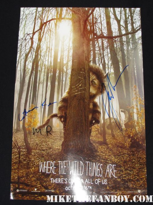 where the wild things are promo mini poster james gandolfini katherine keener promo max ryan rare promo hot