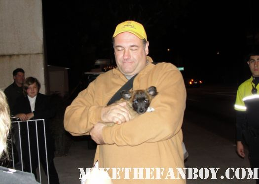 james gandolfini signed autograph sopranos tony god of carnage the mexican rare promo hot fan friendly pinky's dog sammy