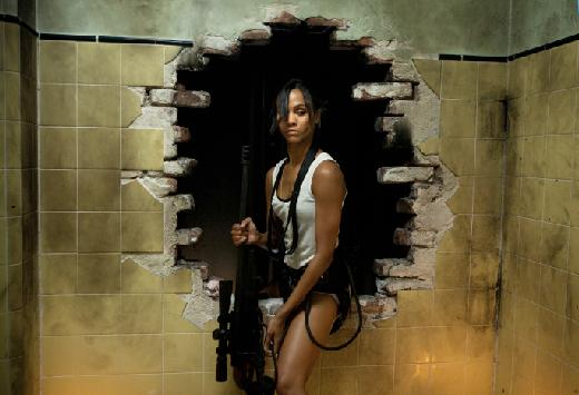 colombiana sexy zoe saldana rare promo press still movie poster one sheet hot sexy damn fine rare avatar