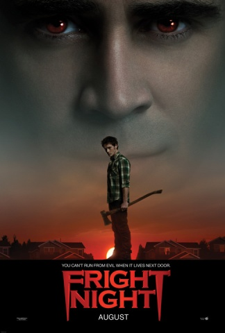 fright night 2011 rare one sheet movie poster teaser version 1 colin farrell toni collette anton yelchin united states of tara total recall 2011 promo remake star trek hot sexy vampire promo hot damn fine photo shoot
