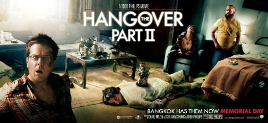 hangover 2 hangover II rare one sheet movie poster banner hot rare thailand tatoo Bradley Cooper, Ed Helms, and Zach Galifianakis promo hot sexy photo shoot promo alias due date