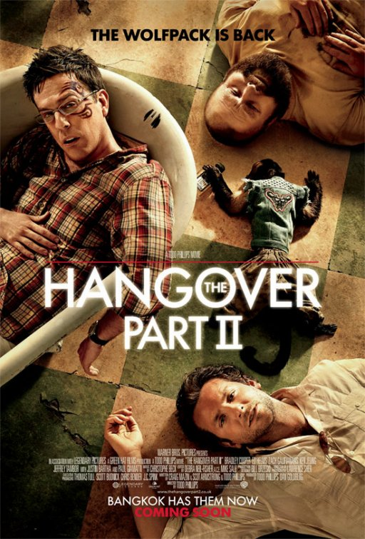 hangover 2 hangover II rare one sheet movie poster banner hot rare thailand tatoo Bradley Cooper, Ed Helms, and Zach Galifianakis entertainment weekly promo poster hot sexy undies hairy tatoo promo monkey hot sexy rare version 8 damn
