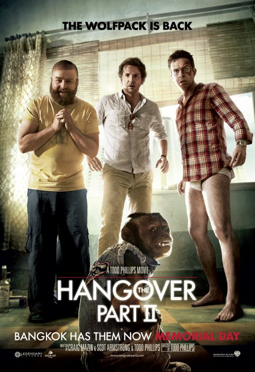 hangover 2 hangover II rare one sheet movie poster banner hot rare thailand tatoo Bradley Cooper, Ed Helms, and Zach Galifianakis version 9 entertainment weekly promo hot monkey undies sexy photo shoot promo rare