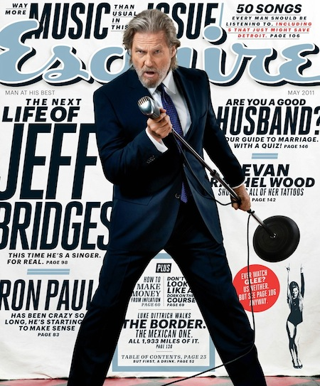 jeff bridges may 2011 issue esquire magazine cover rare kevin flynn rare tron legacy the big lebowski the dude rare promo bowling ball microphone rare