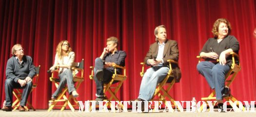 justified cast q and a may 24 2011 academy television arts and sciences Timothy Olyphant, Margo Martindale, Walton Goggins, Natalie Zea, Erica Tazel and Graham Yost signed autograph rare promo hot sexy western