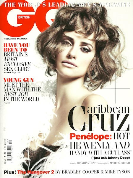penelope cruz sexy hot photo shoot rare british gq magazine cover june 2011 rare hot vanilla sky promo rare pirates of the caribbean on stranger tides