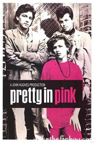 pretty in pink one sheet movie poster promo molly ringwald jon cryer john hughes andrew mccarthy rare breakfast club