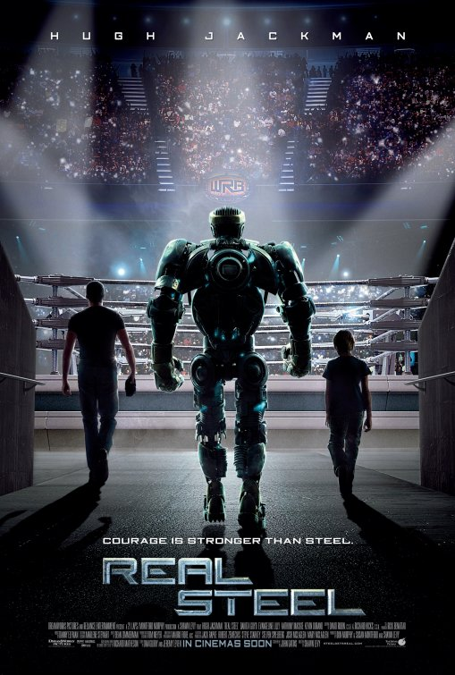 New Hugh Jackman Real Steel promo one sheet movie poster promo hot rare robot fighting advance teaser poster hope davis kevin durand sexy hot rare