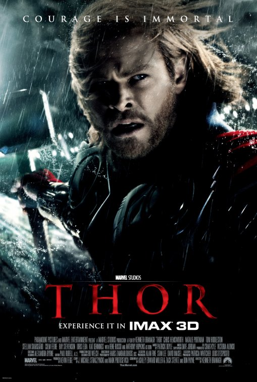 thor one sheet movie poster rare chris hemsworth hot sexy damn fine blonde god of thunder rare one sheet movie poster rare promo