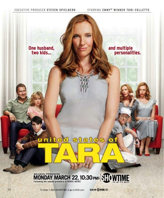 the united states of tara season 2 promo poster cancelled showtime promo toni collette fight night little miss sunshine muriel's wedding muriel heslop rare john corbett brie larson kier gilchrist promo hot poster one sheet rare