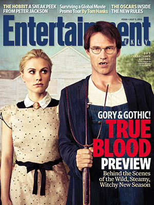 true blood american gothic entertainment weekly magazine cover anna paquin stephen moyer sookie stackhouse bill compton