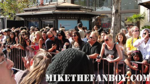 crowd waiting for christina aguilera to arrive at a taping of extra at the grove signed autograph sexy rare promo