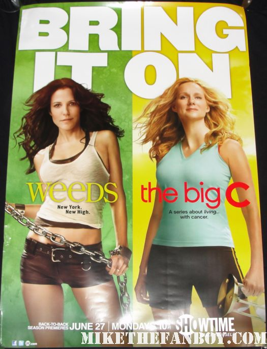 weeds and the big c rare season 7 season 2 combo poster mary louise parker, laura linney hot sexy damn fine nancy botwin bring it on chains shorts sexiness