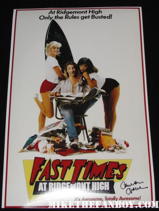 fast times at ridgemont high rare promo mini movie poster signed autographed by Cameron crowe the writer and director of almost famous