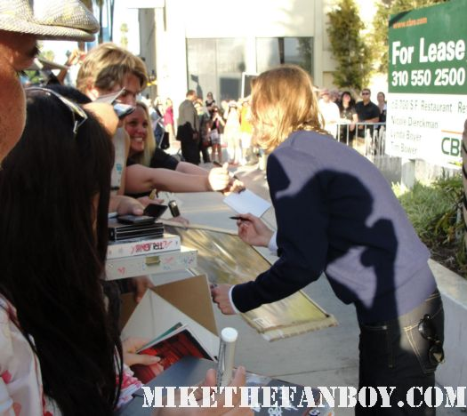 actor Dean Chekvala signing autographs for fans at the true blood season 4 world premiere red carpet rare promo poster true colors premiere rare fangtasia promo sign autographs