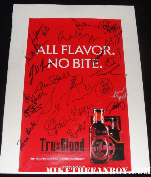 true blood signed autograph all flavor no bite rare promo mini poster hot sexy signed promo season 1 true blood anna paquin