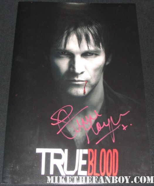 stephen moyer signed autograph true blood season 2 rare individual promo mini poster hot sexy vampire bill compton