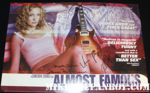 anna paquin signed autograph almost famous rare uk quad mini poster cameron crowe frances mcodormand billy cudrup