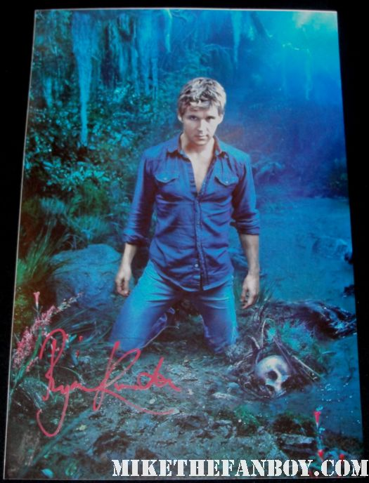 sexy ryan kwanten signed autograph true blood season 3 rare individual promo mini poster hot sexy vampire jason stackhouse sexy muscle shirtless promo poster