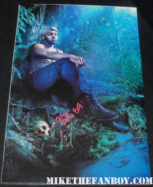 nelsan ellis signed autograph true blood season 3 promo individual mini poster lafayette hot sexy swamp