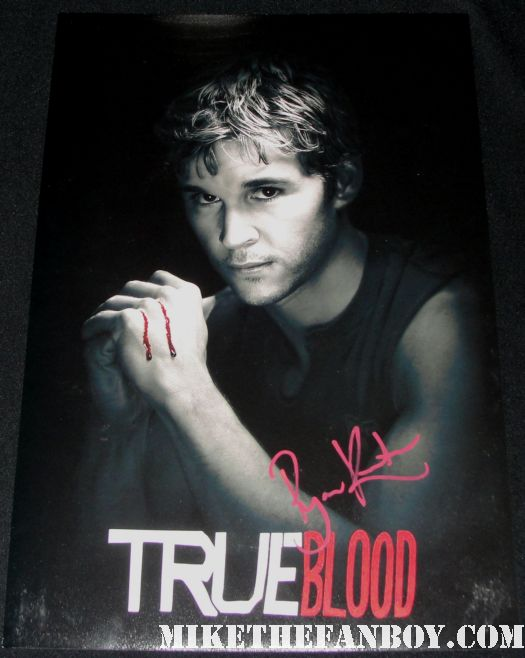 ryan kwanten signed autograph jason stackhouse true blood season 2 individual promo mini poster hot sexy rare muscle shirtless red paint pen