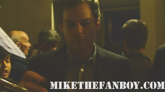 michael c hall dexter star signing signed autograph rare promo poster season 5 rare hot sexy fans emmy roundtable screening series six feet under rare promo hot
