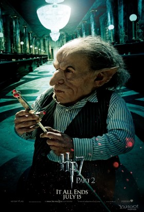 Griphook-in-Harry-Potter-and-the-Deathly-Hallows-Part-2 warwick davis individual promo mini movie poster fighting horacrux rare individual promo mini movie poster promo