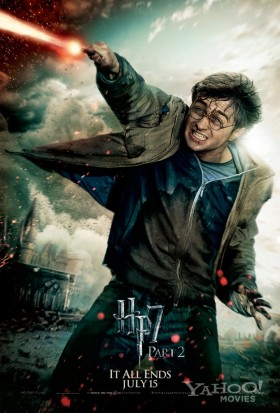 Harry-Potter-and-the-Deathly-Hallows-Part-2-poster-harry fighting individual rare promo mini poster hot sexy rare final harry potter