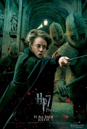 Minerva-McGonagall-in-Harry-Potter-and-the-Deathly-Hallows-Part-2 rare promo mini poster individual maggie smith hot rare fighting promo poster promo