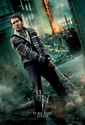 Neville-Longbottom-in-Harry-Potter-and-the-Deathly-Hallows-Part-2 rare promo matthew lewis rare promo hot fighting individual promo mini poster