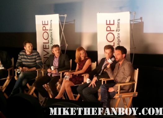 The geek tv panel at the los angeles time envelope screening series q and a with sam trammell true blood, johnny galecki The Big Bang Theory, Jayma Mays Glee, joel mchale community, michael c hall dexter