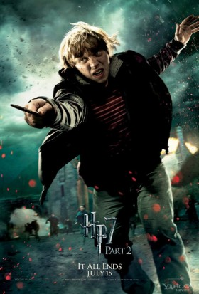 Ron-Weasley-in-Harry-Potter-and-the-Deathly-Hallows-Part-2-rare promo individual promo mini poster rupert grint