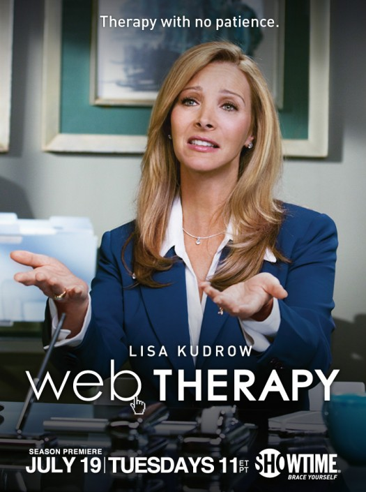 lisa Kudrow's Web therapy rare season 1 promo poster artwork dvd showtime original series promo hot friends romy and michele high shcool reunion
