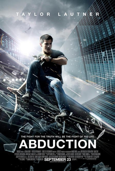 Abduction version 2 rare one sheet movie poster taylor lautner sexy hot rare promo inception muscle abs promo workout asian building promo