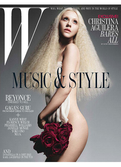 christina aguilera poses naked for the cover of w magazine july 2011 rare hot sexy dirrty the voice back to basics whoo hoo hot sexy photo shoot