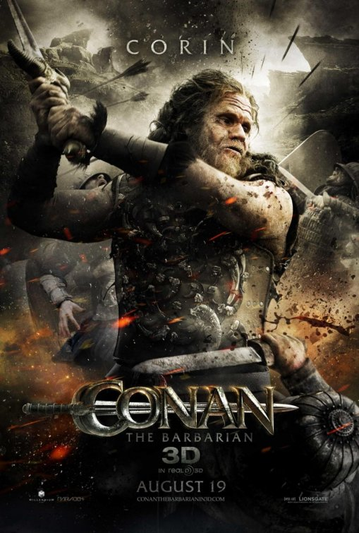 Conan the Barbarian rare individual one sheet movie poster corin ron pearlman hellboy alien resurection rare promo mini poster