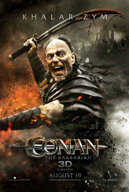Conan the Barbarian rare individual one sheet movie poster Khalar Zym stephen lang rare avatar promo poster individual