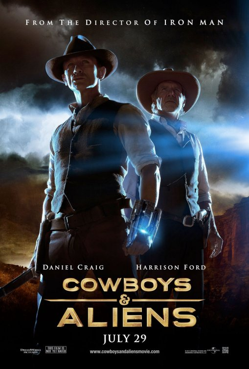 cowboys and aliens rare one sheet movie poster harrison ford daniel craig olivia wilde sexy rare promo hot jamed bond 007 tron legacy house hot sexy photo shoot indiana jones star wars sabrina