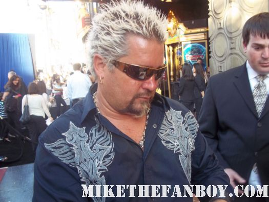 Guy Fieri from Food Network signing autographs at the cars 2 world movie premiere rare promo